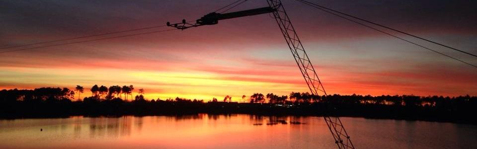 lakecity cable park coucher de soleil
